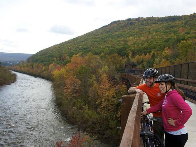 Pennsylvania fall foliage biking