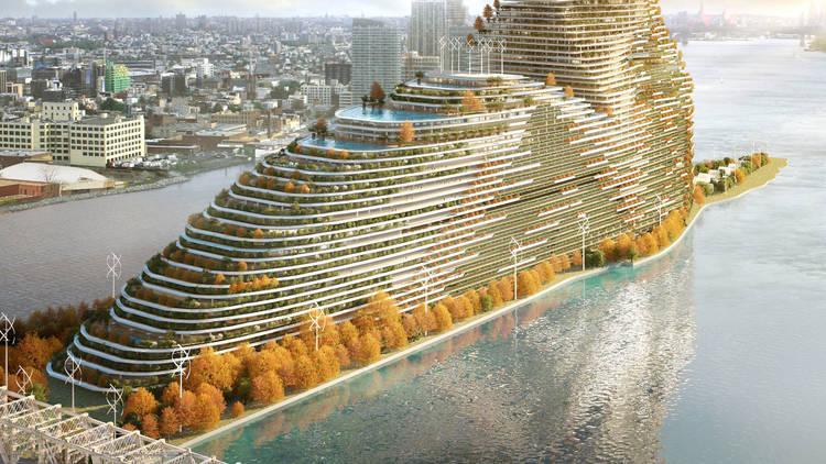 Rescubika Studio's renderings of the carbon-filtering skyscraper