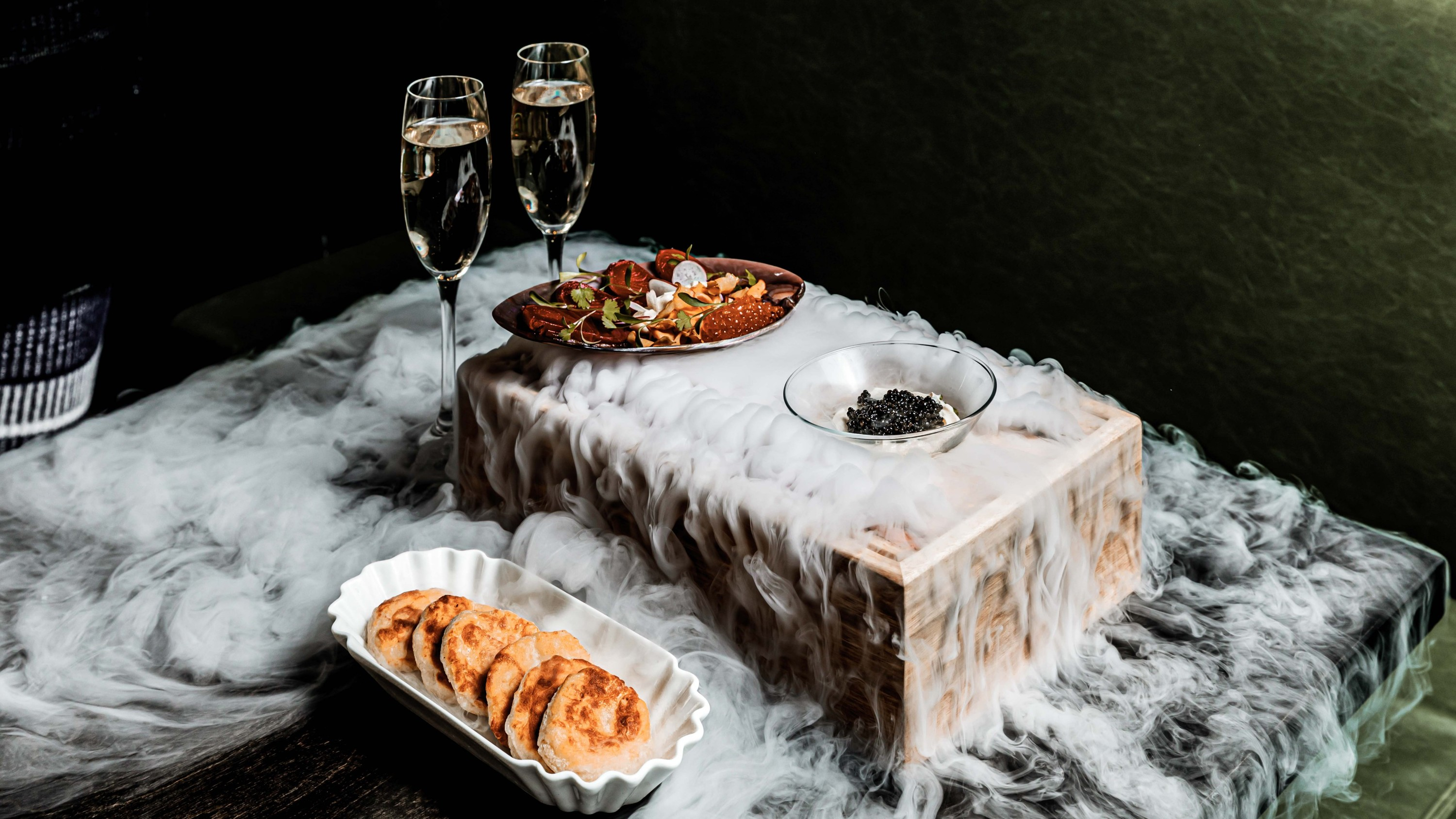Feast on chilled caviar and flowing Spritzes at Hello Auntie's new bottomless brunch