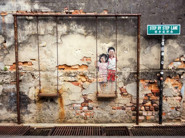 Incredible street art and murals in Penang