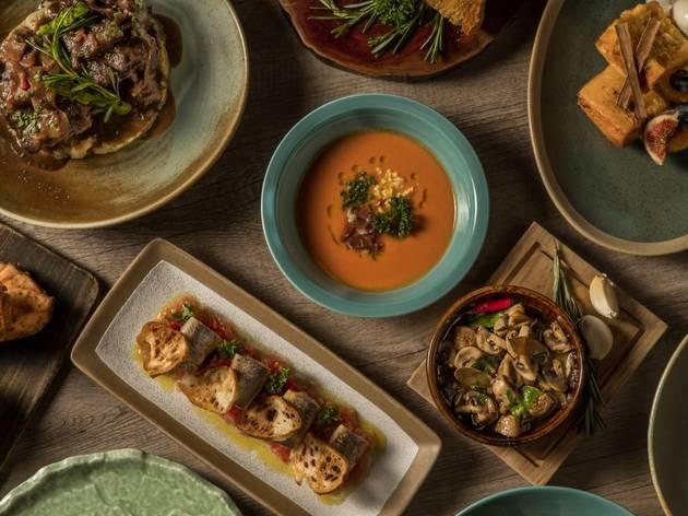 Andalusian menu at Ole