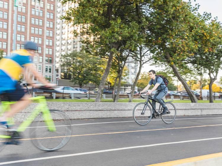 Take a long bike ride on a local trail