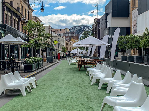 Sydney's streets will be transformed into outdoor dining terraces this summer