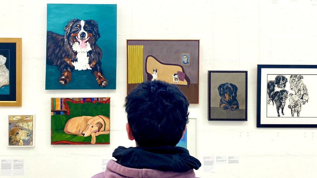 Installation view of Woof! Art Prize