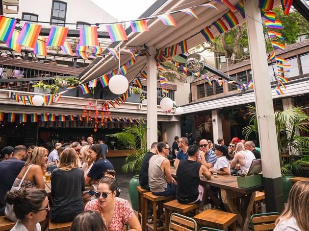 The Bank Hotel beer garden