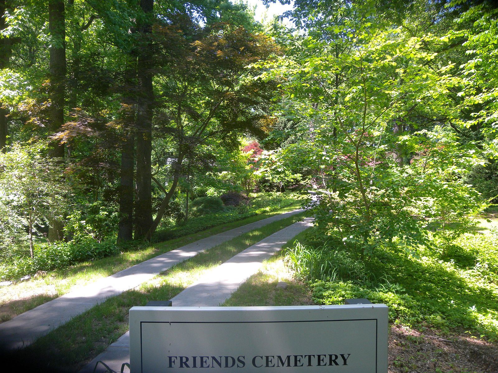 Friends Cemetery in Prospect Park