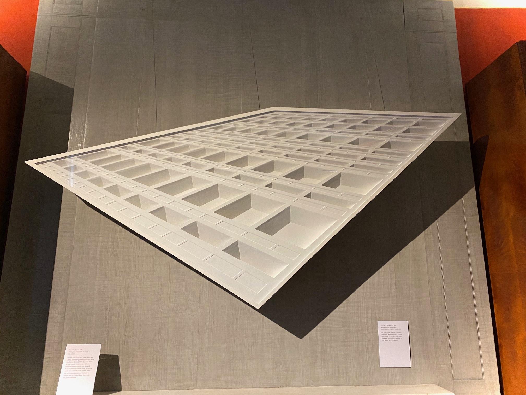 Langlands & Bell, 'Marseille, Cité Radieuse' (2001), installation view. Sir John Soane's Museum