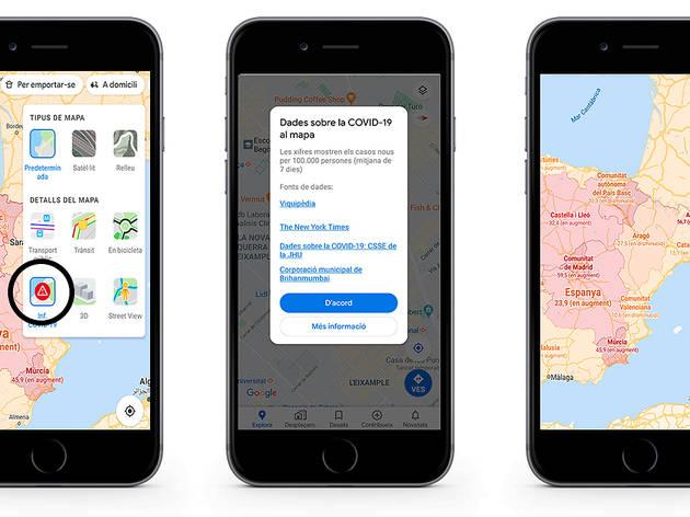 Google Maps t'ajuda a saber quants contagis hi ha en cada país