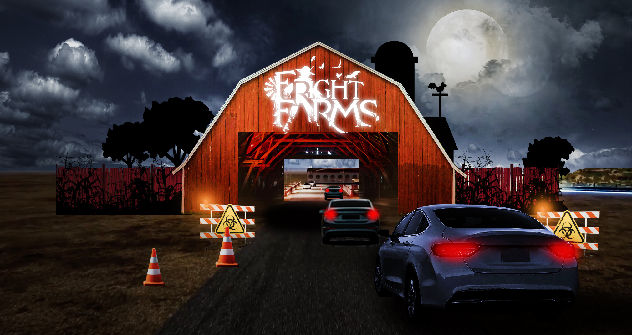 Fright Farms Halloween drive-through