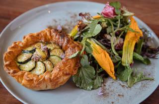Two Chaps zucchini tart (Photograph: Daniel Boud)