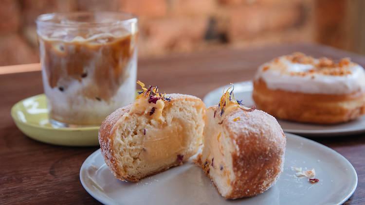 Two Chaps donuts (Photograph: Daniel Boud)
