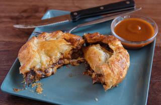 Two Chaps lentil pie (Photograph: Daniel Boud)