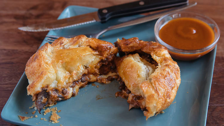 Two Chaps lentil pie (Photograph: Daniel Boud)