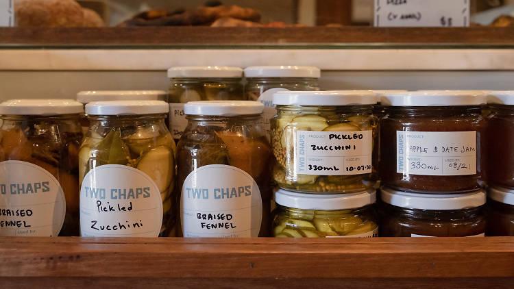 Two Chaps pickles (Photograph: Daniel Boud)