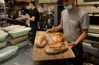 Two Chaps fresh bread (Photograph: Daniel Boud)