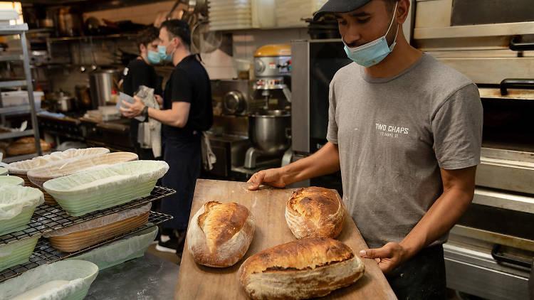 Two Chaps fresh bread (Photograph: Daniel Boud)