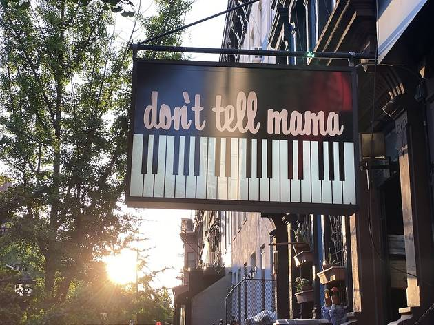 Don't Tell Mama sign