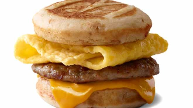 McDonald's sausage egg and cheese McGriddle