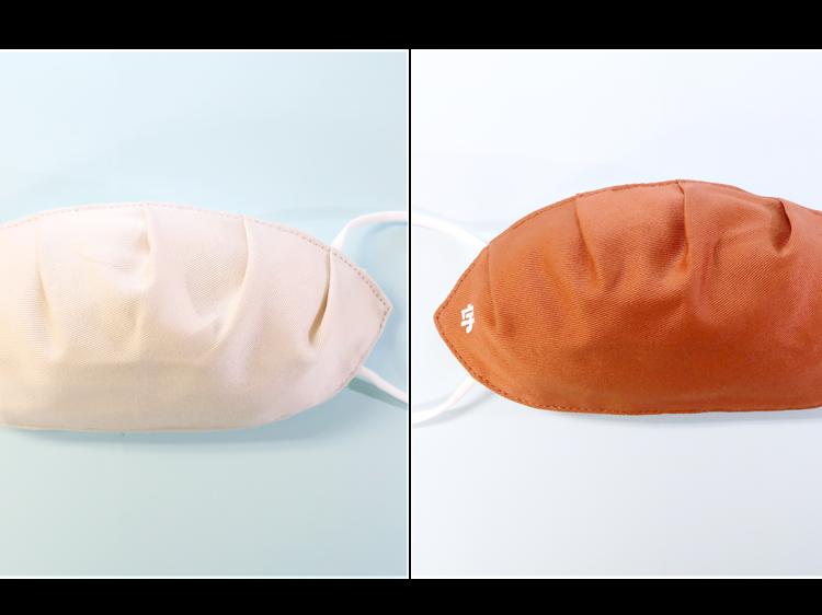 Gyoza-shaped face mask