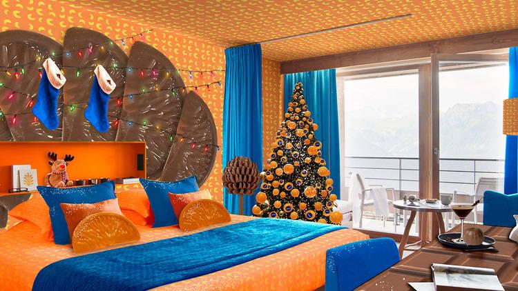 Terry's Chocolate Orange-themed room