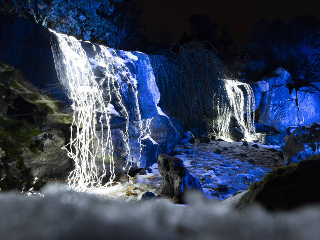 Waterfall at Lightscape