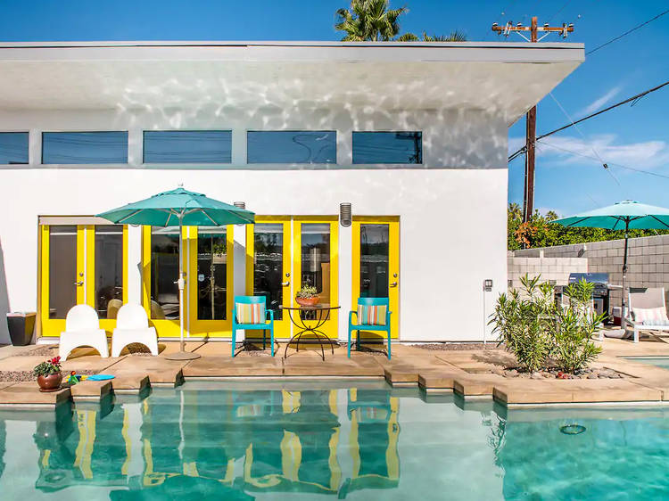 A colorful pool escape in Palm Springs