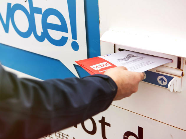 Mailing in a ballot, mail-in ballot, vote, election, 2020