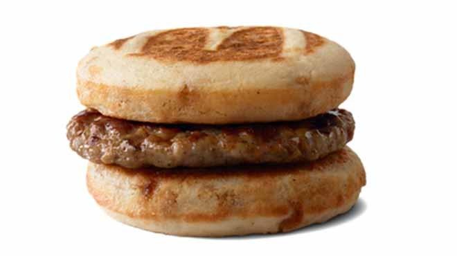 McDonald's sausage McGriddle