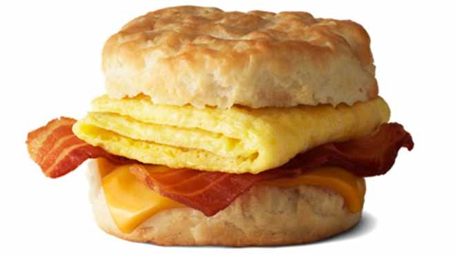 McDonald's Bacon Egg and Cheese biscuit