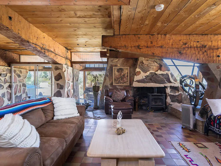A house made of rocks in Yucca Valley