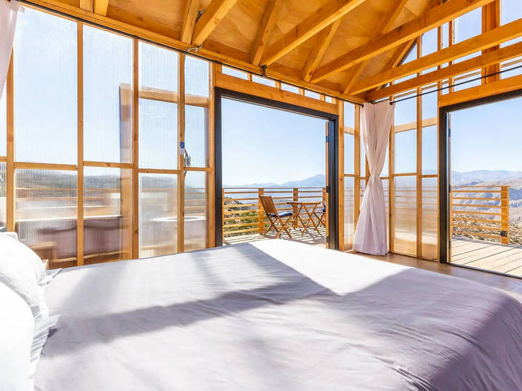 A translucent cabin in Yucca Valley