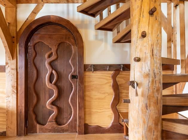Tanglewood rustic converted bar, front door