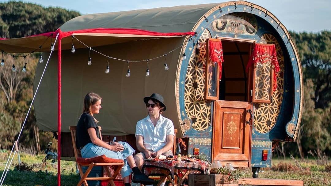 Sea Gypsy glamping caravan