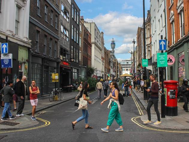 soho under social distancing in 2020