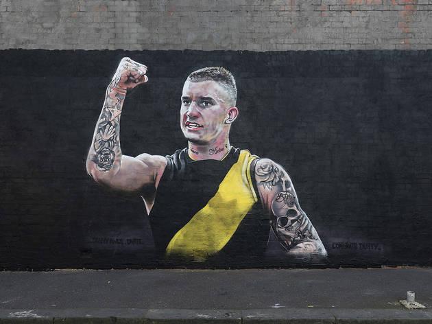 Dustin Martin mural Richmond