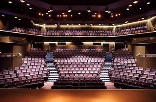 The empty Dunstan Playhouse seen from the stage