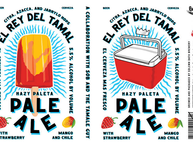 A local brewery is giving the 'Tamale Guy' his own paleta-inspired beer