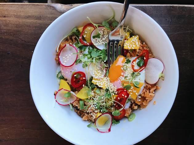 Republique brunch short rib kimchi bowl