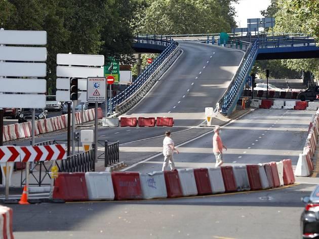 Obras en viaducto de Joaquín Costa