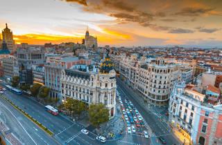 Madrid al atardecer