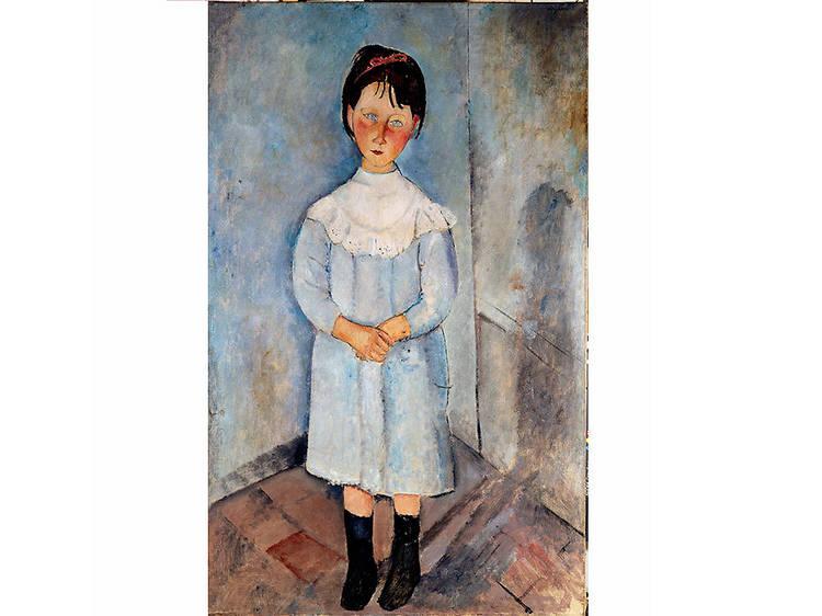 Niña vestida de azul, Amedeo Modigliani