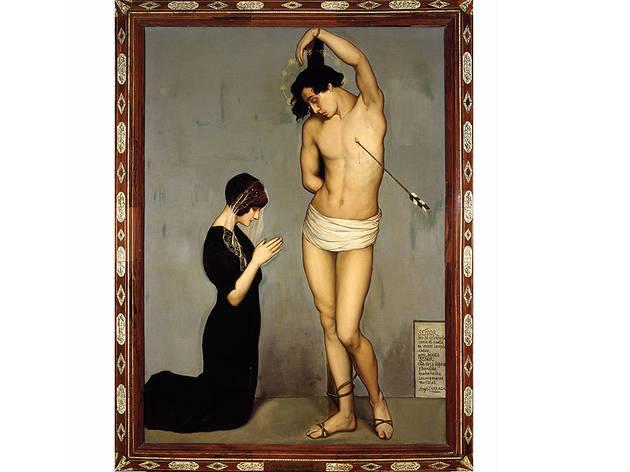 Ángel Zárraga, Exvoto. Martirio de San Sebastián, 1911, Óleo sobre tela,