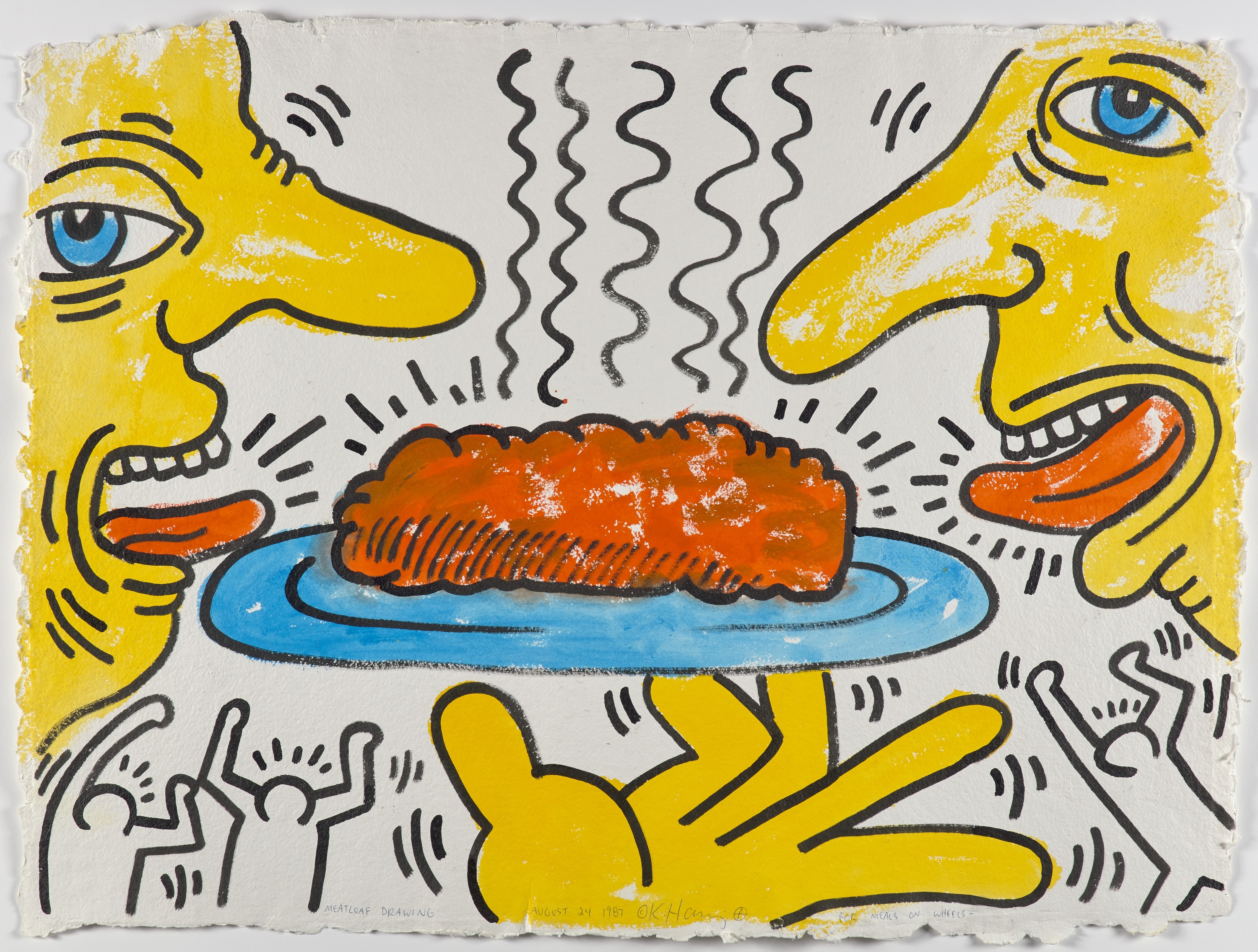 Keith Haring《Meatloaf Drawing for Meals on Wheels》,1987