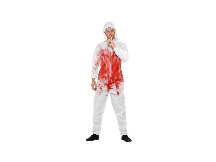 Macacão forense sangrento