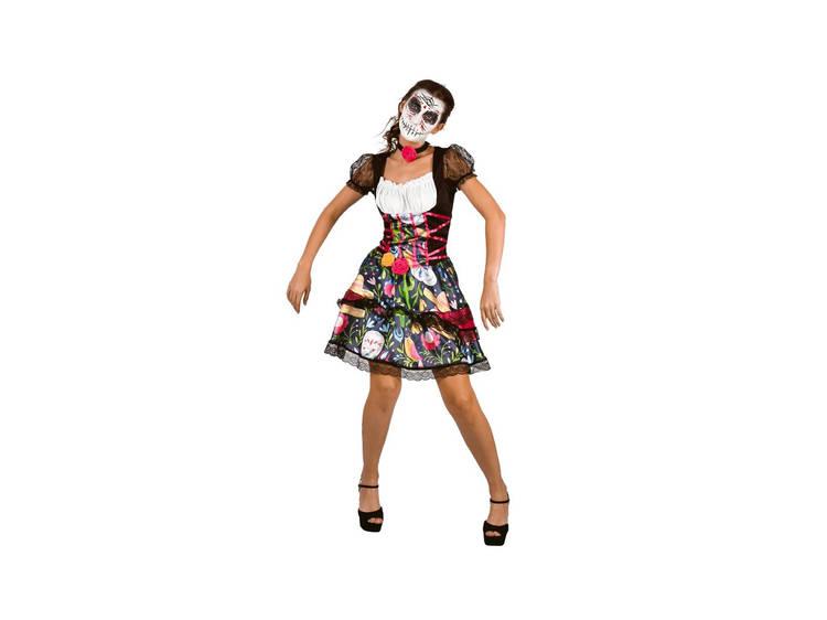 Fato de mulher mexicana assustadora