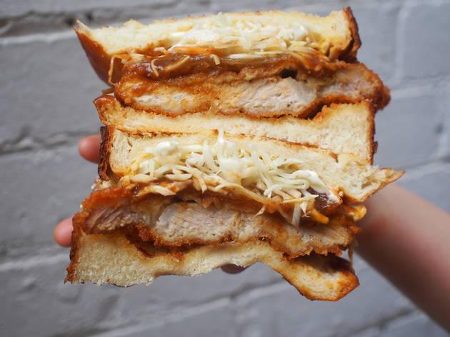 Chicken katsu sando.