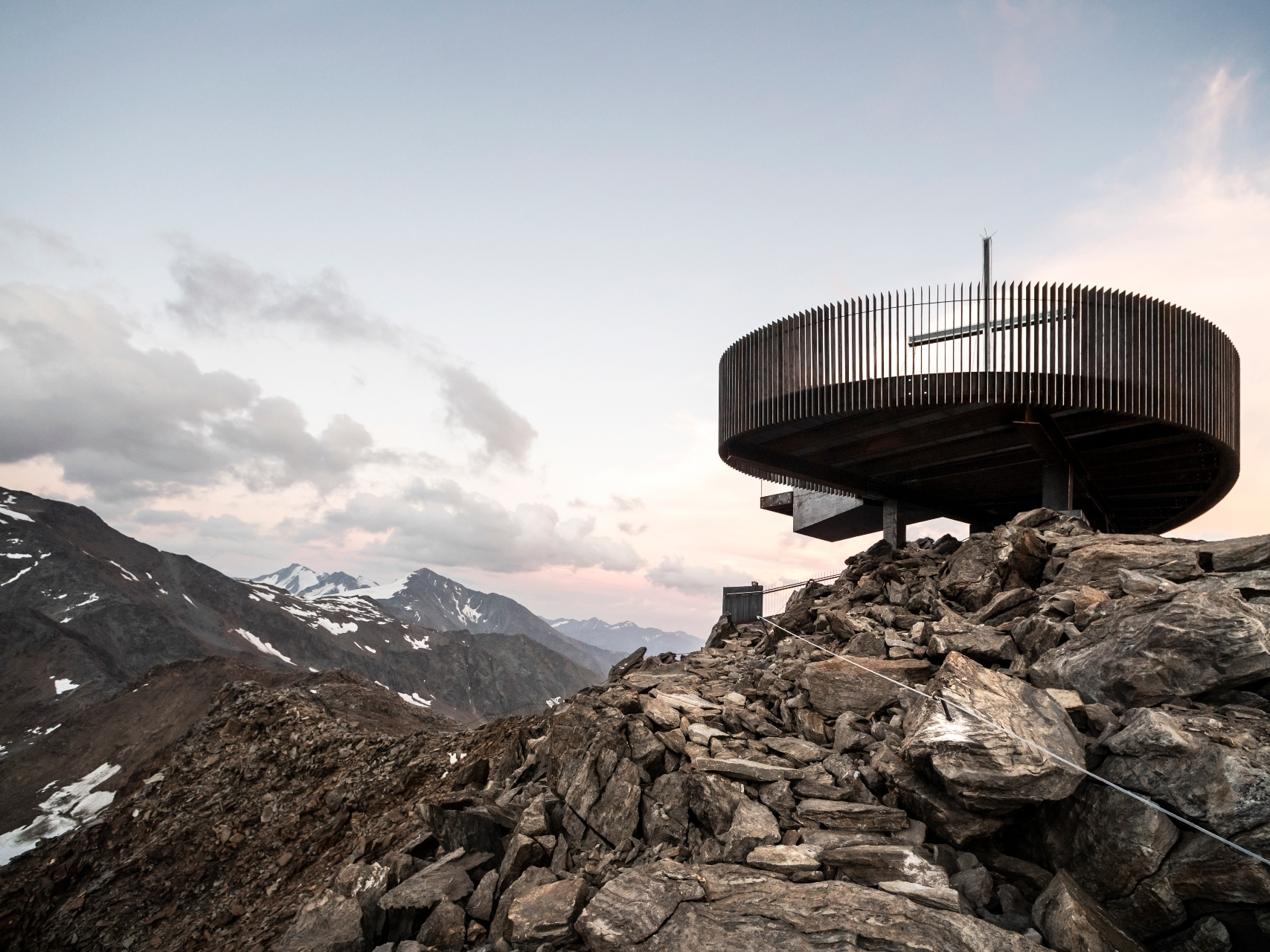 This futuristic new observation deck offers spectacular views over the Italian Alps