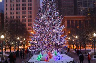 Millennium Park Christmas tree