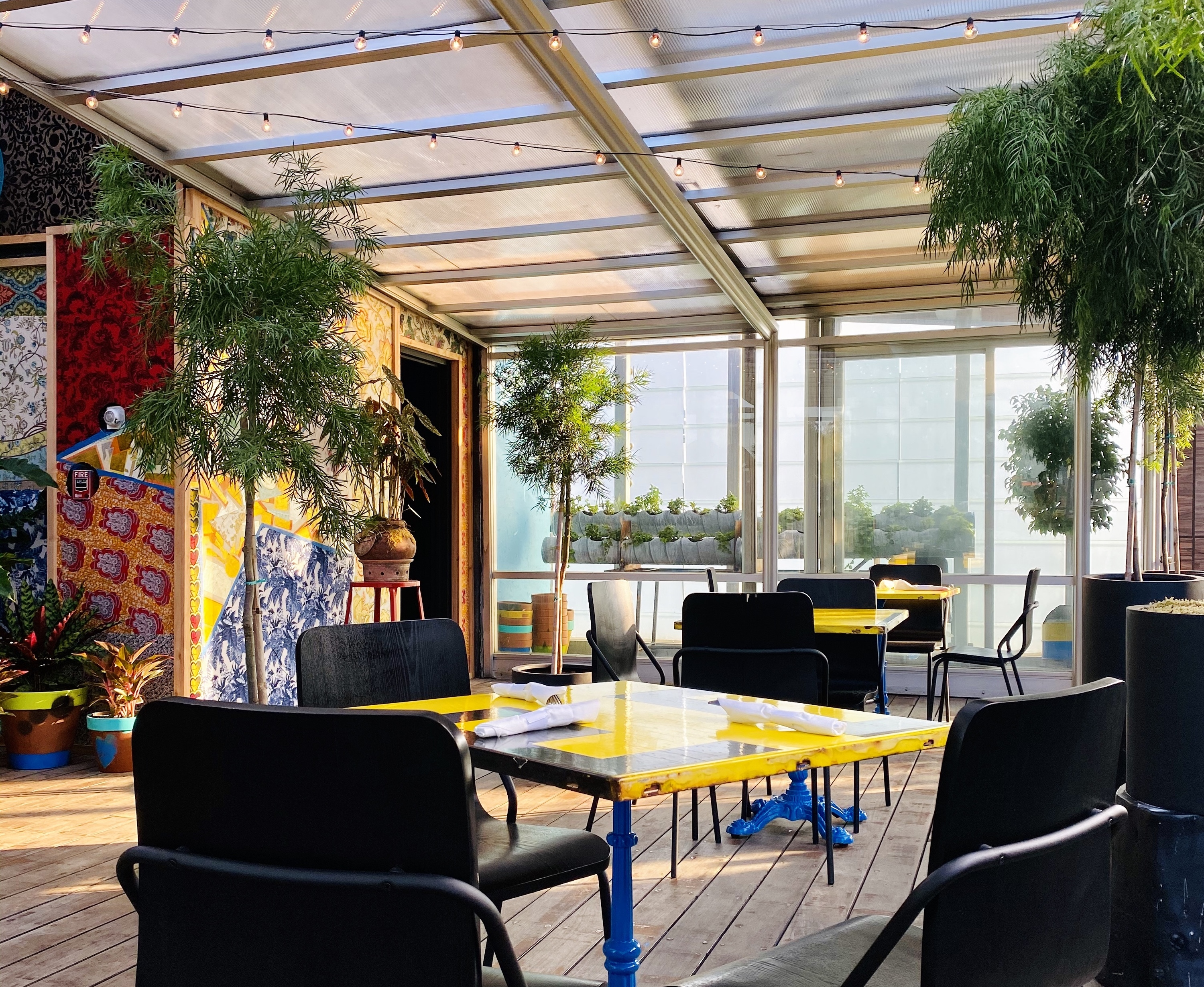 McCarren Hotel's new rooftop bar is a colorful tropical oasis