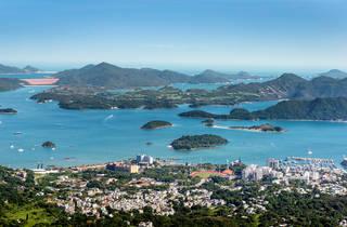 Aerial view of Sai Kung
